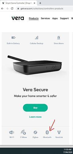 Capture VERA SECURE, Bluetooth