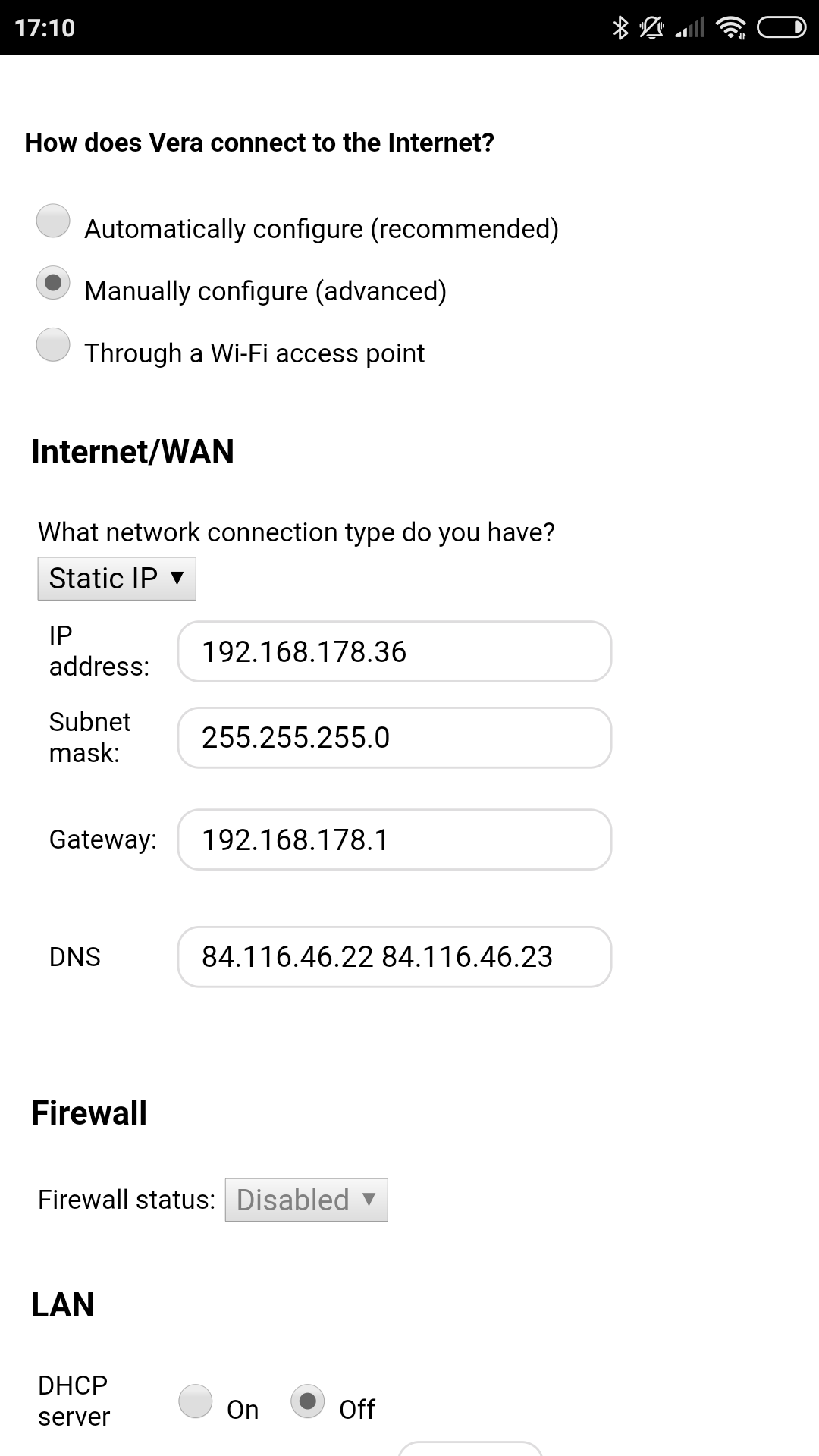Wifi settings still not working for static IP - General