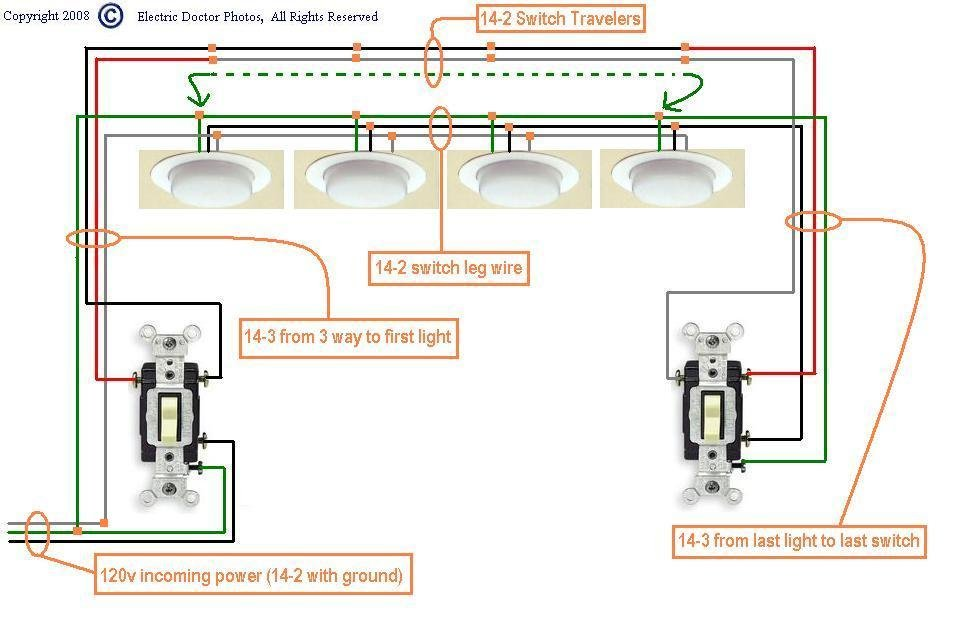 How To Wire Up Multiple Light Switches, 3 Way Switch Wiring Diagram Multiple Lights
