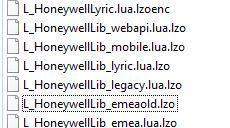 honeywell strange file